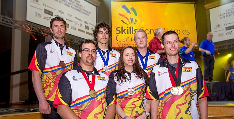 In total, six NBCC students and apprentices were awarded medals at the Skills Canada National Competition in Moncton from June 5-8.