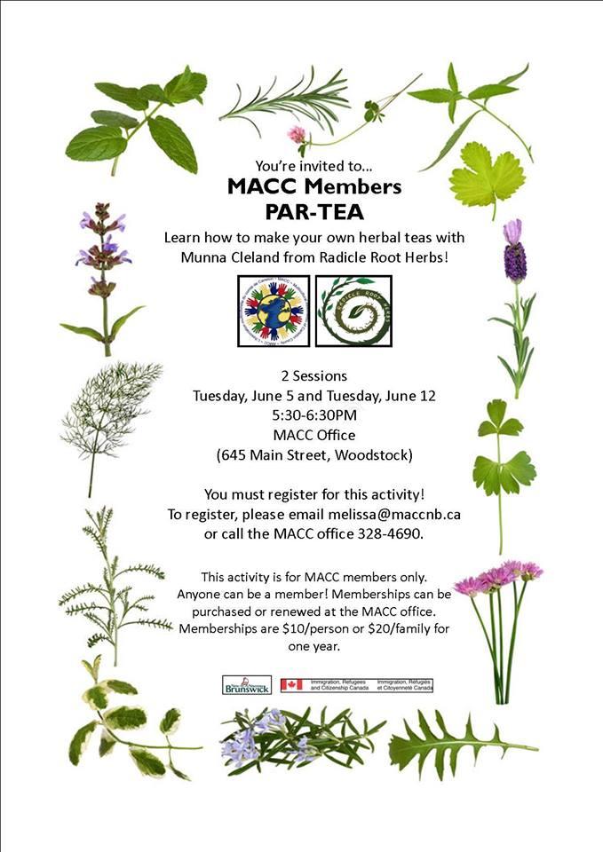 MACC Members Par-Tea – June 5th and June 12th