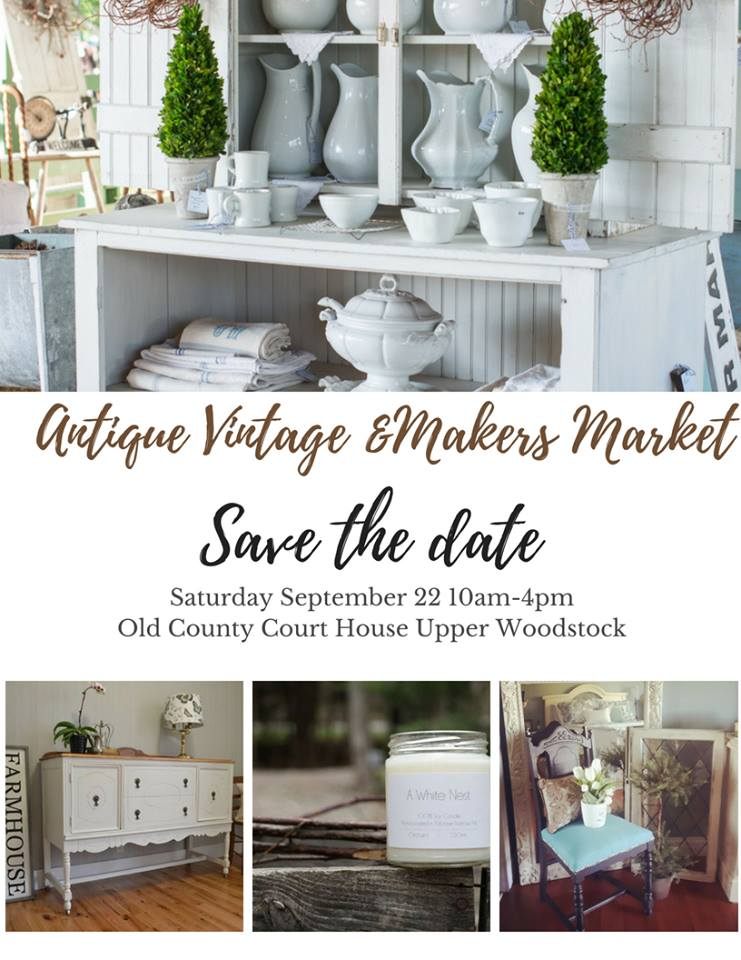 2nd Annual Vintage Sisters Antique, Vintage and Makers Market at the Old Carleton County Court House