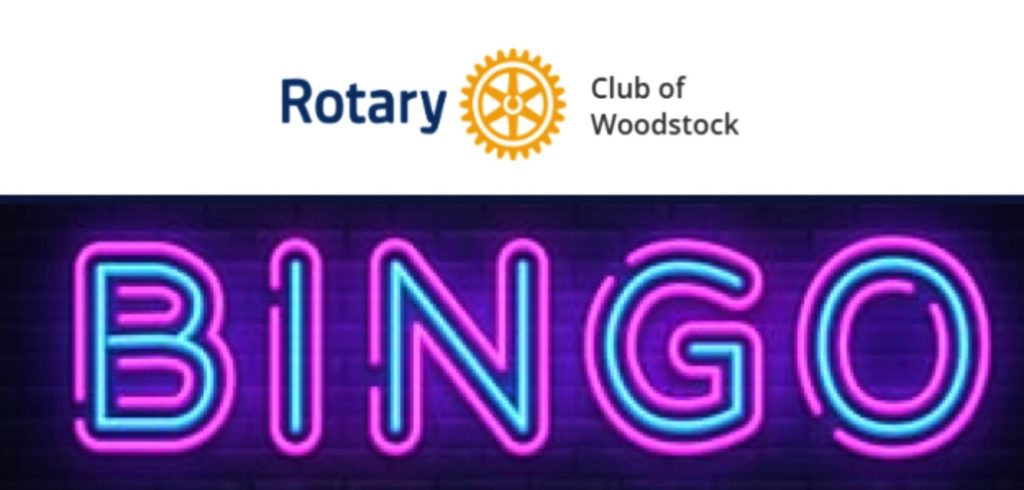 Rotary Club of Woodstock Now Live Streaming Their Weekly Wednesday Bingo on Facebook!